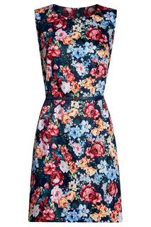 Платье с ремнем с цветочным принтом oodji