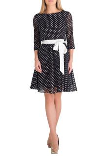 Короткое легкое платье с поясом Eva Davidova