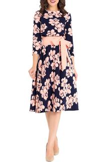 Короткое приталенное платье с поясом Eva Davidova