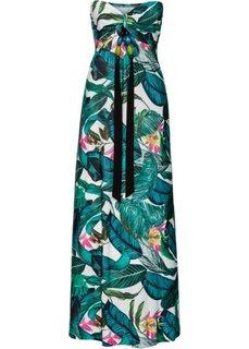 Длинное летнее платье (зеленый в цветочек) Bonprix