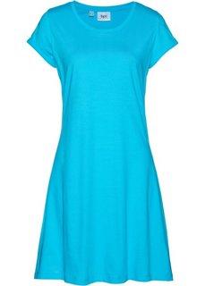 Трикотажное платье с коротким рукавом (карибский синий) Bonprix