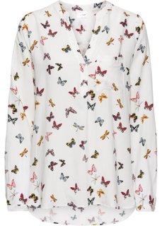 Блузка (кремовый с рисунком) Bonprix
