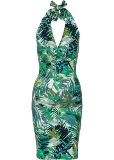 Платье с леопардовым узором (леопардовый/зеленый) Bonprix