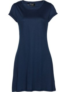 Трикотажное платье с коротким рукавом (темно-синий) Bonprix