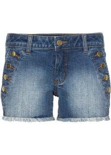 Джинсовые шорты с пуговицами (светло-голубой деним) Bonprix