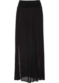 Макси-юбка с разрезами (черный) Bonprix