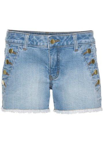 Джинсовые шорты с пуговицами (нежно-голубой деним)