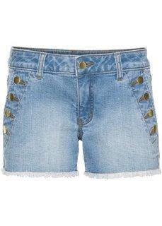 Джинсовые шорты с пуговицами (нежно-голубой деним) Bonprix