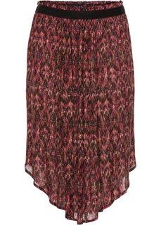 Широкая юбка-миди (зеленый мох с узором) Bonprix