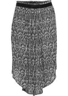 Широкая юбка-миди (черный с узором) Bonprix