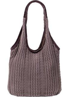 Вязаная сумка Мари (серый) Bonprix