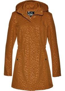Куртка софтшелл с леопардовым принтом (бронзовый) Bonprix