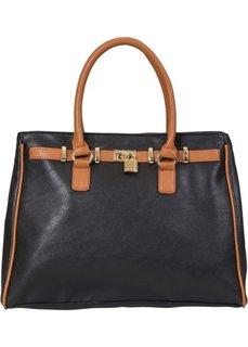 Дамская сумка Бизнес (черный/коричневый) Bonprix