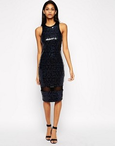 Облегающее платье с пайетками ASOS - Синий