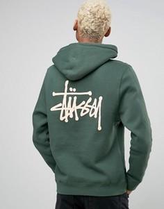 Худи с логотипом сзади Stussy - Зеленый