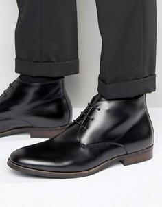 Кожаные ботинки чукка Dune Moreton - Черный