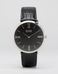 Часы с черным кожаным ремешком BOSS By Hugo Boss Jackson - Черный