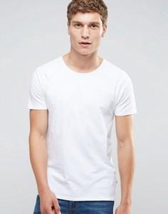 Белая стретчевая футболка слим с круглым вырезом Scotch & Soda - Белый