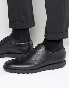 Кожаные оксфордские броги Kickers Kymbo - Черный