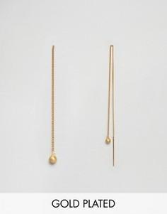 Длинные серьги Pilgrim - Золотой