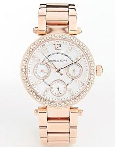 Часы цвета розового золота с хронографом Michael Kors Parker MK5616 - Золотой