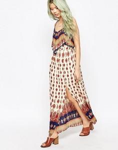 Платье макси в богемном стиле с принтом Hazel - Розовый