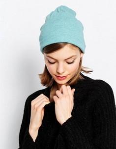 Свободная шапка-бини из легкого трикотажа Hat Attack - Синий