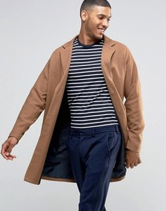 Бежевое саржевое пальто ASOS - Рыжий