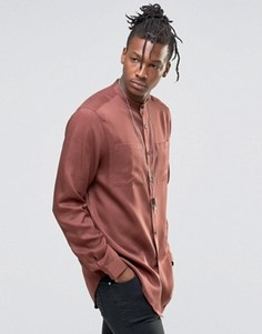 Oversize-рубашка удлиненного кроя на пуговицах ASOS - Красный