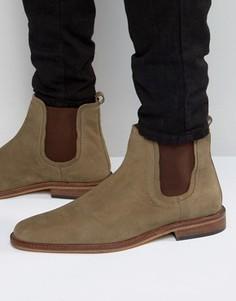 Серо-коричневые кожаные ботинки челси Dune - Коричневый