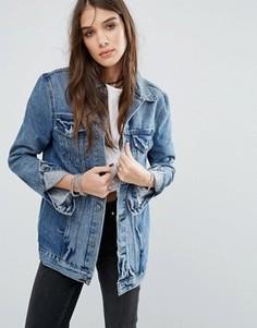 Удлиненная джинсовая куртка Lovers + Friends - Синий