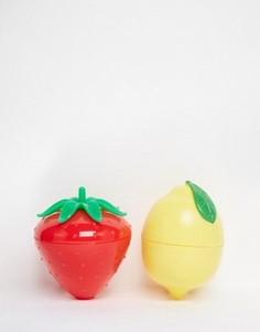 Два бальзама для губ с ароматом фруктов - клубника и лимон - Бесцветный Beauty Extras