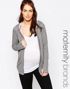 Домашнее худи для беременных Mamalicious - Серый Mama.Licious