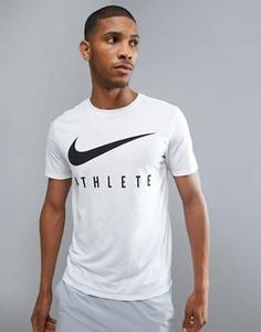 Белая футболка Nike Training Dry - Серый