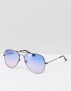 Солнцезащитные очки-авиаторы с фиолетовыми стеклами ASOS - Фиолетовый