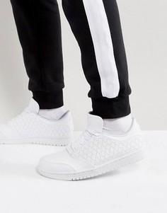 Белые низкие кроссовки Nike Jordan 1 5 888264-100 - Белый