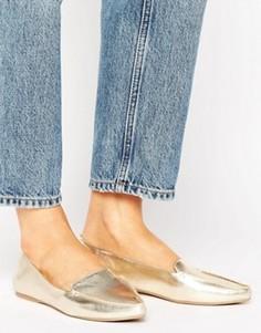 Туфли цвета металлик на плоской подошве Call It Spring Cadenasen - Золотой