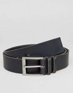 Черный кожаный ремень для джинсов Systvm - Черный