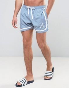 Шорты для плавания в стиле ретро Calvin Klein ID CK NYC - Синий