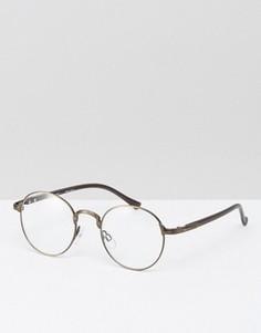 Круглые очки бронзового цвета AJ Morgan - Коричневый
