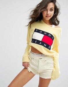 Свитшот в стиле 90-х Tommy Jeans - Желтый