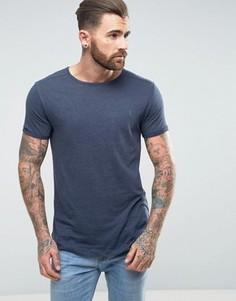 Меланжевая футболка Ringspun - Темно-синий