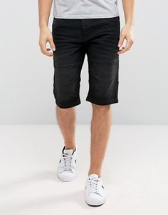 Черные выбеленные джинсовые шорты Solid - Черный
