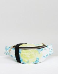 Жаккардовая сумка-кошелек на пояс ASOS - Желтый