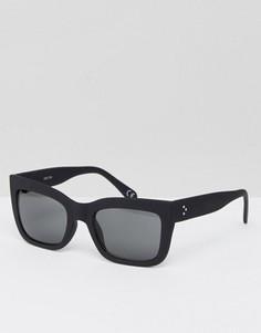 Черные солнцезащитные очки в квадратной оправе ASOS - Черный