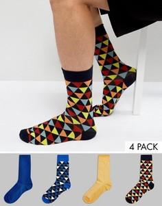 Набор из 4 пар носков с принтом Jack & Jones - Мульти