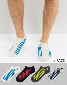 Набор из 4 пар спортивных носков с полосами Jack & Jones - Мульти