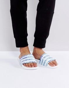 Шлепанцы с принтом adidas Originals - Белый