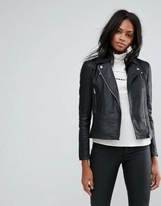 Кожаная байкерская куртка Y.A.S Sophie - Черный