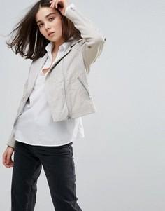 Байкерская кожаная куртка Muubaa Gulrro - Серый
